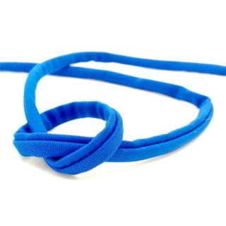 Sieraden elastiek kobalt blauw elastisch ibiza lint gestikt 5mm