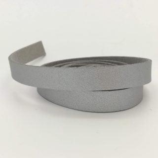 Zilveren leren koord imitatie faux 1cm breed sieraden zelf maken