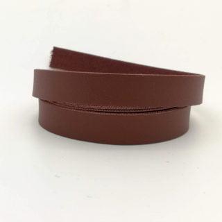 Imitatie leerkoord donkerbruin armbandjes maken sleutelhangers 1cm breed