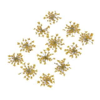 Droog bloemen oker gele sieraden zelf maken gieten in hars