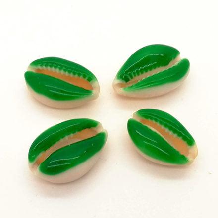 Groene schelpkraal cowrie groot zomer trends zelf sieraden maken