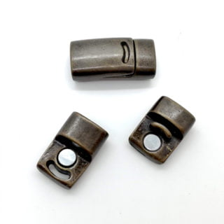 Bronzen Magneet sluiting paardenhaar sieraden zelf maken
