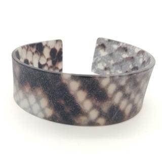 Matte slangen dierenprint trendy armband