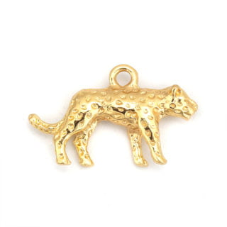 Gouden bedeltjes dieren panters leopard tijgers DIY sieraden maken
