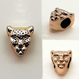Leopard kralen trendy armbandjes zelf maken goud dieren print