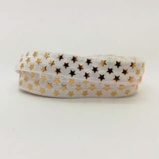 Wit goud elastiek koord 1,5cm ster goud armbandjes bedels