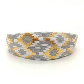 Grijs elastiek koord aztec trendy armband zelf maken