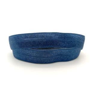 Donkerblauw licht navy sieraden elastiek lint koord 1.5cm breed armbanden haarbanden zelf maken