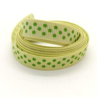 Grosgrain lint licht groen groene stippen sleutelhangers met naam zelf maken