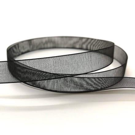 Organza lint transparant zwart 1cm breed sleutelhangers zelf maken