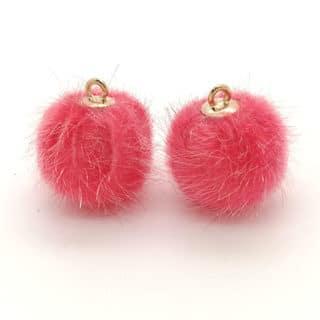 Pomponntjes goud roze sieraden bedeltjes zelf oorbellen maken