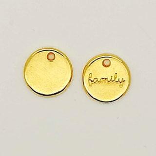 Rond hangertje family goud bedelarmbandjes DIY sieraad verkopen