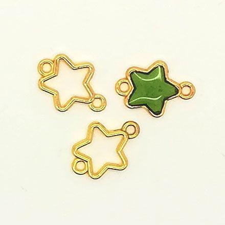 Sterren hangers tussenstukken goud epoxy giethars sieraden zelf maken resin art