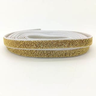 Elastiek lint koord 1cm goud wit glitters zelf armbanden maken verkopen
