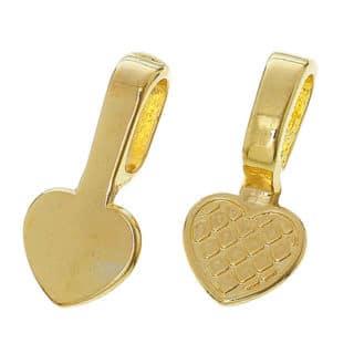 Goudkleurige bailhartjes zelf sieraden maken nikkelvrij resin art