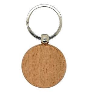 Blanke sleutelhanger hout zilver rond houtbrander ideeën zelf maken