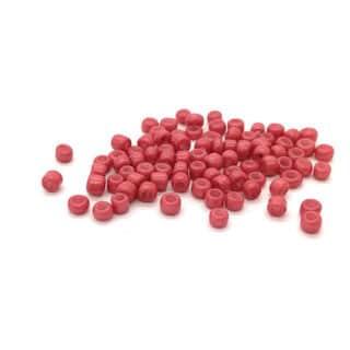 Rocaille glaskralen seed beads 2mm klein oud roze armbandjes rijgen