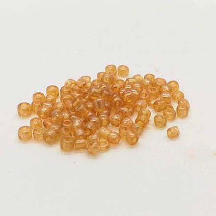 Rocailles glaskralen kleine 2mm goud transparant zelf sieraden maken