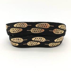 Elastisch lint zwart veren goud 15mm breed armbandjes zelf maken beginners