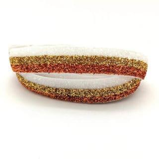 Breed glitter elastiek zelf armbandjes maken goud brons wit trendy kerst armbanden