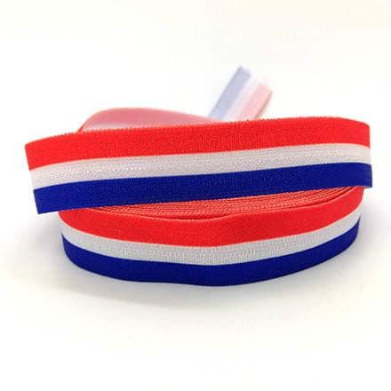Rood wit blauw elastiek koord armbandjes maken bedeltjes molens holland