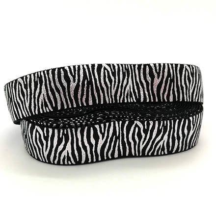 Breed sieraden elastiek koord zwart zilver zebra print trendy armbanden maken
