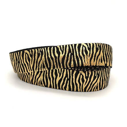 Breed elastiek koord lint zwart gouden zebra strepen dierenprint trends armbandjes zelf maken