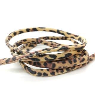 Leopard print elastisch Ibiza lint panter luipaard armbandjes maken 5mm gestikt koord