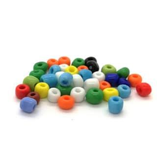Gekleurde rocailles glaskraaltjes zelf armbandjes rijgen 4mm kleurenmix