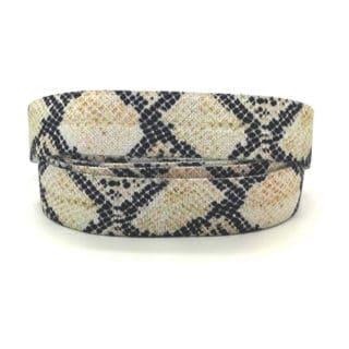Elastisch slangen print lint nude sieraden zelf maken