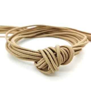 Beige brown elastisch koord 2mm dik zelf sieraden maken