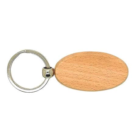 Ovalen sleutelhanger hout metalen ring houtbranden zelf maken diy ideetjes