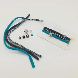 Compleet setje armbandjes blauw grijs Swarovski