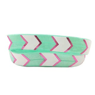 Elastisch lint koord aqua mint groen metallic roze wit bias band armbandjes zelf maken