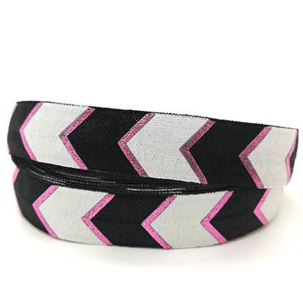 Elastiek koord bias band zwart wit roze zelf armbanden maken DIY 15mm