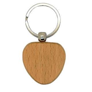 Sleutelhanger hart metalen ring houtbranden zelf maken DIY