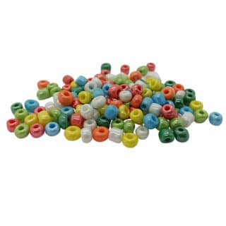 Gekleurde kleine kraaltjes glas 4mm rocailles