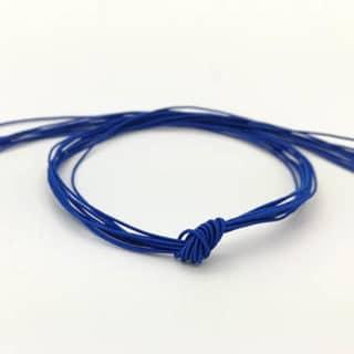 Elastisch koord dun kobalt blauw armbandjes rijgen kleine kraaltjes
