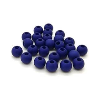 Acryl kralen rond donker blauw klein 4mm