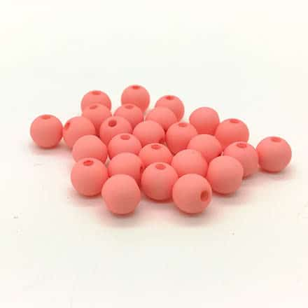 Acryl kraaltjes 6mm ronde zalm roze pink armbandjes zelf maken rijgen