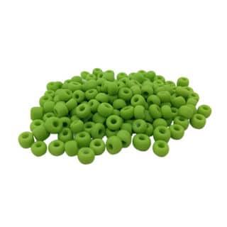 Matte kraal groen 4mm rocailles