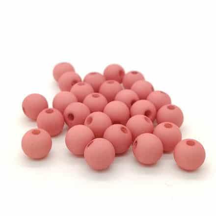 Acryl kraal 6mm mat roze armbandjes rijgen trendy kleuren