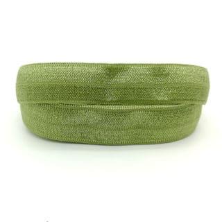 Elastisch Ibiza lint koord 15mm olijf groen zelf sieraden maken