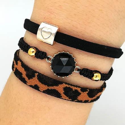 Zelf sieraden maken trend herfst kleuren macramé knopen goud zwart bruin panter luipaard leopard