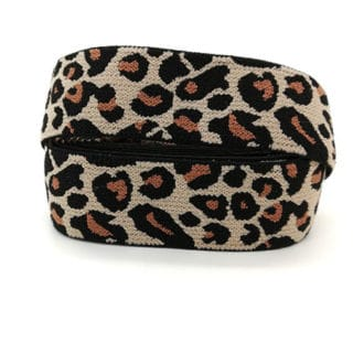 Breed elastiek koord leopard dierenprint panter velvet trendy winter sieraden maken