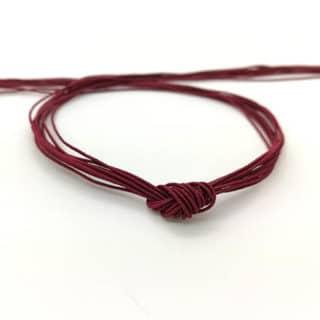 Donker rood elastisch koord dun armbandjes rijgen rocaille kralen