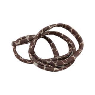 Sieraden elastiek lint koord 5mm rond gestikt giraffe print dieren trendy armbandje
