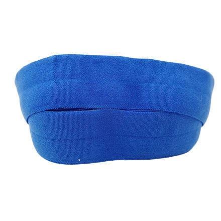 Elastisch lint blauw 2cm breed mat sieraden maken DIY armbandjes bais band