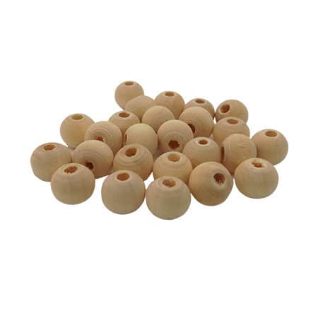 Blanke kraaltjes hout klein 8mm groothandel verpakking goedkoop