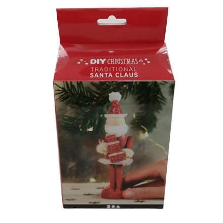 Kerstman hout zelf maken rood schilderen DIY pakket